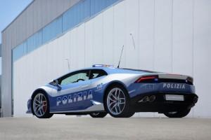 Italian Police Speeding Lambo